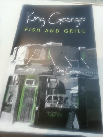 Menu picture of king george fish grill geelong tripadvisor king george fish grill menu reheart Gallery