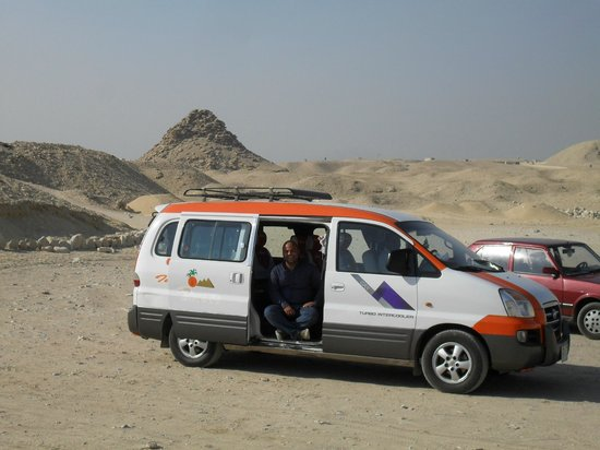 Egypt Fun Tours Day Trips:                   Hani and the van