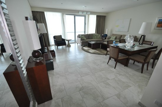 JA Oasis Beach Tower:                   Living Room with Balcony