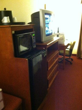Hampton Inn Lehighton (Jim Thorpe Area) :                   TV & desk area