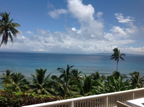 Taveuni Island, Fiji:                   View from the deck