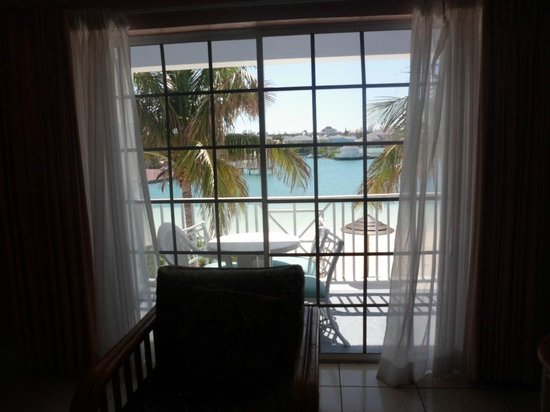 Sandyport Beach Resort:                   View from room