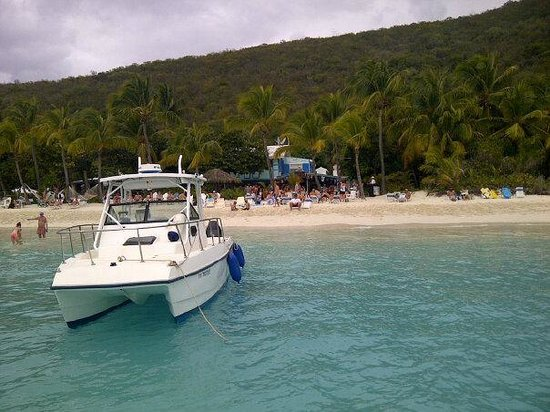 Cruz Bay, St. John:                   Fun day at Soggy Dollar!!