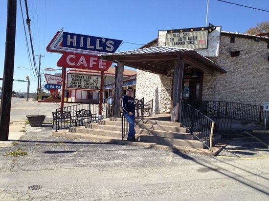 Hill's Cafe:                   Front view from South Congress