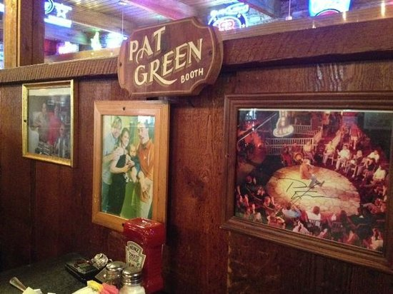 Hill's Cafe:                   Pat Green Booth