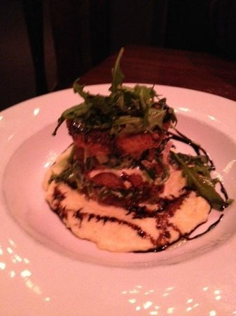 Byers Street Bistro :                   Vegetable Napolean with Basalmic Reduction