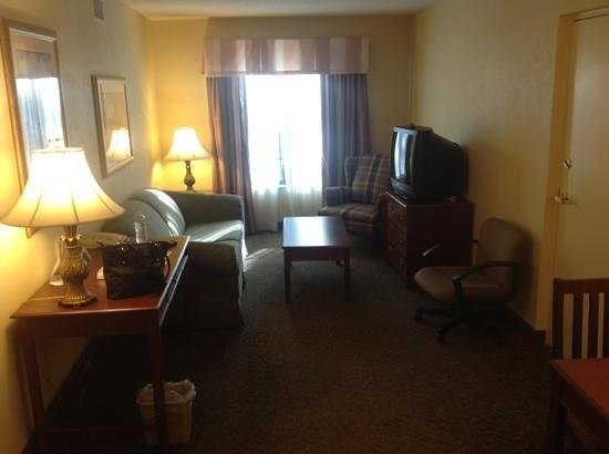 Country Inn & Suites By Carlson, Raleigh-Durham Airport:                   1bedroom suite living room w/ sofabed