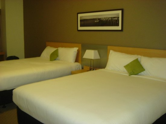 ibis Brisbane:                                     two queen beds