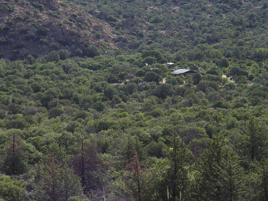 Cochise Stronghold, A Nature Retreat: In Evergreen Oak Forest - View of site from the mountain