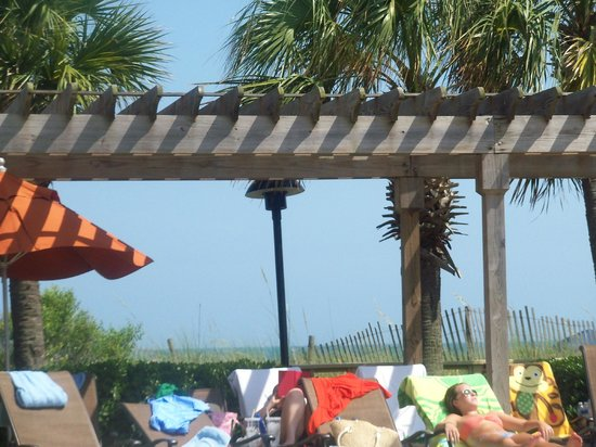 Embassy Suites by Hilton Myrtle Beach-Oceanfront Resort:                   View from pool chair looking toward ocean