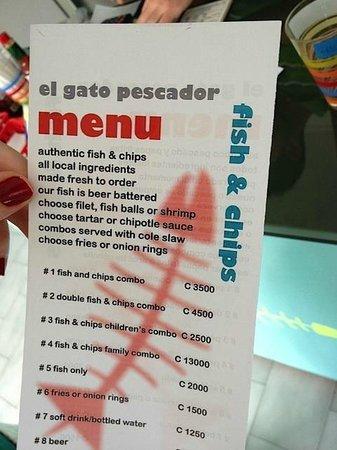 El Gato Pescador:                                     Tasty menu