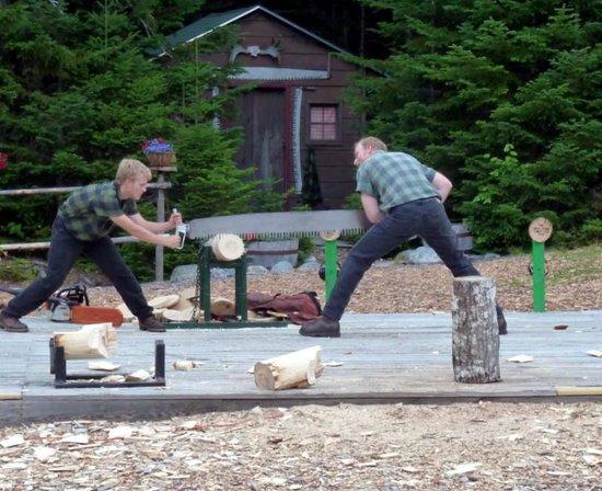 Timber Tina's Great Maine Lumberjack Show:                   Saw contest