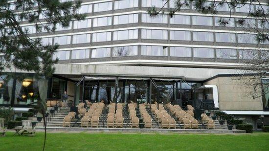 Hilton Amsterdam:                   hotel outdoor garden