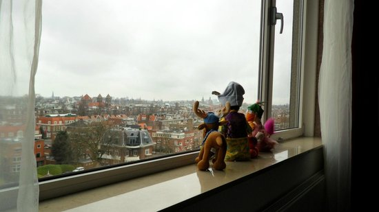 Hilton Amsterdam:                   view from the room