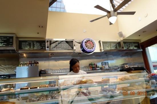 Palo Alto Creamery Fountain & Grill:                   by cash counter