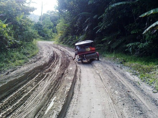 Port Barton, Filipinas:                                     This is a BETTER part of the road!