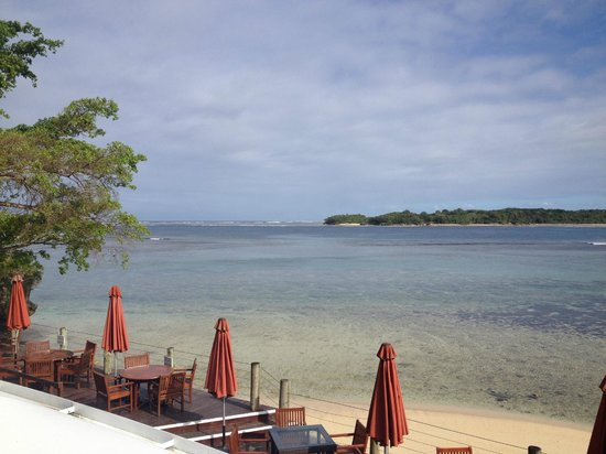 Shangri-La's Fijian Resort & Spa:                   view from the adults restaurant upstairs