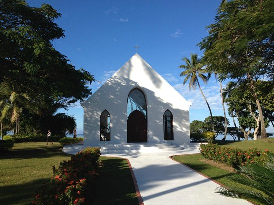 Shangri-La's Fijian Resort & Spa:                   this is the beautiful chapel it was just gorgeous dream wedding spot