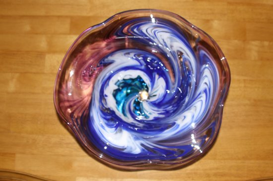Tacoma Glassblowing Studio:                   My bowl