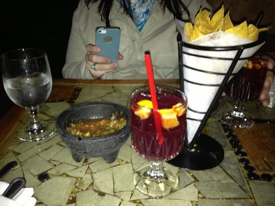 Cancun Restaurant :                   Salsa, Chips and Sangria
