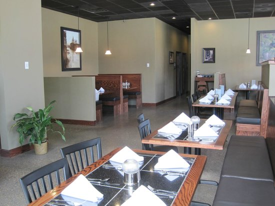 Part of the dining area in the Old Town Bistro