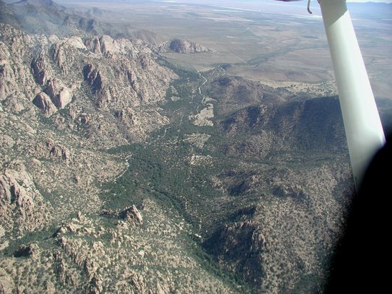 Cochise Stronghold, A Nature Retreat: Aerial of Canyon