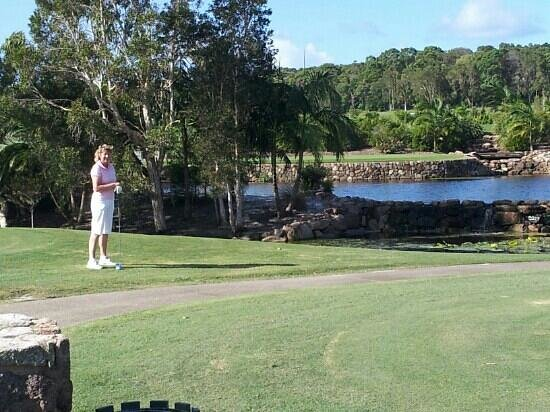 Noosa Springs Golf & Spa Resort :                   Nice dry course but lots of water in play
