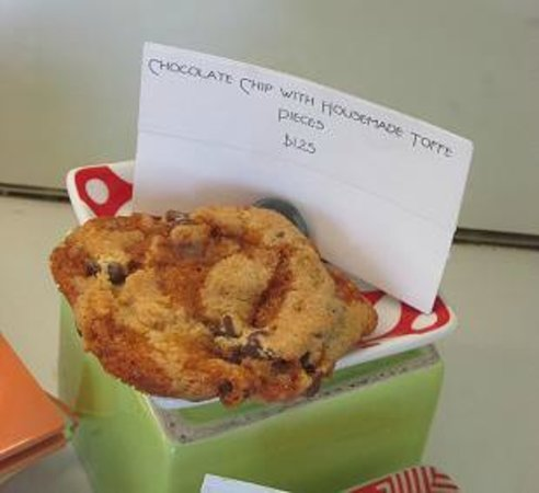 Platine Bakery:                   Chocolate Chip with house made toffee pieces cookie.