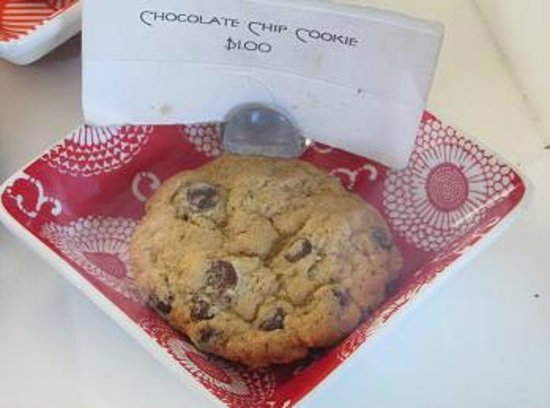 Platine Bakery:                   A chocolate chip cookie.
