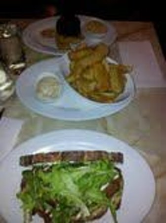Little Darling Diner Balmain:                   our meals side of fries chicken snitczel sandwhic and steak and fries