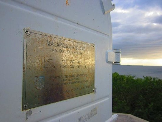 Malapascua Light House:                   The plaque on the lighthouse