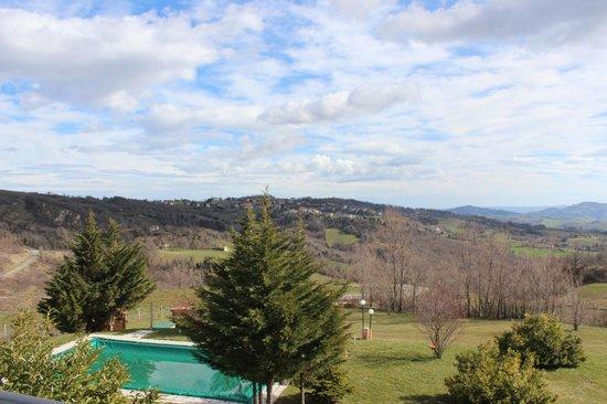 Villa di Carlo Spa&Resort:                   panorama dal terrazzo