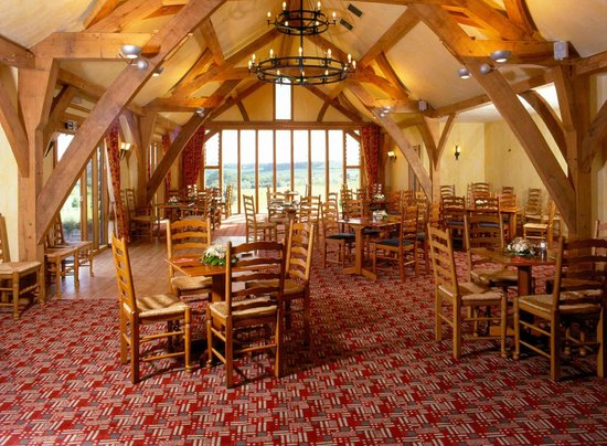 The Oak Room Restaurant - Dainton Park: Oak beams and wrought iron fittings are visually unique