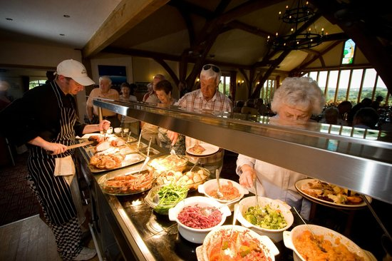 The Oak Room Restaurant - Dainton Park: Hot lunch buffet served every day from 12-2pm