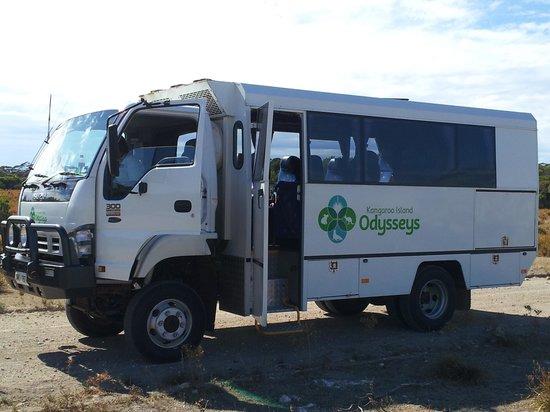 Kangaroo Island Odysseys:                   Odysseys fab 4x4 truck