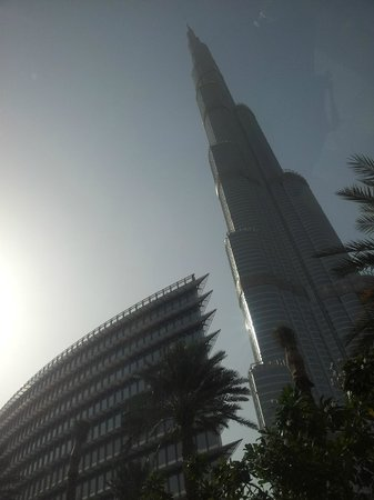 The Address Dubai Mall:                   The view was worth getting lost..
