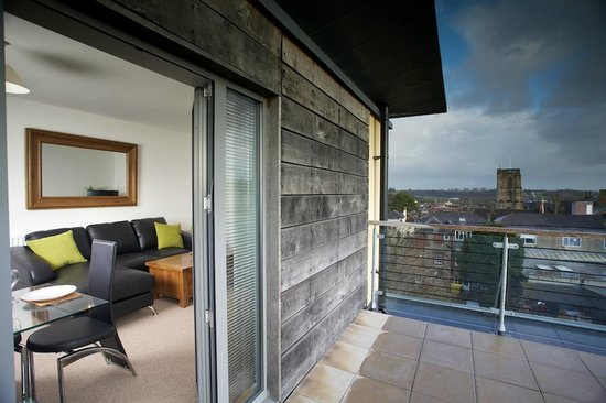 Yeovil Central Apartments: View from terrace to lounge