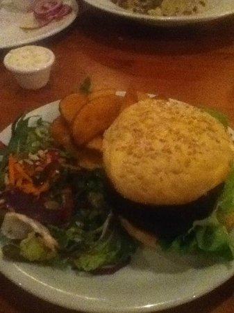 The 78:                   Veggie burger, very tasty!