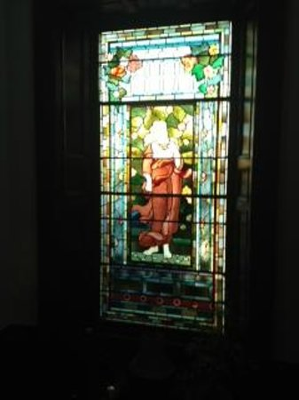 Lauriston Hotel :                   Stain Glass Window on Stairs