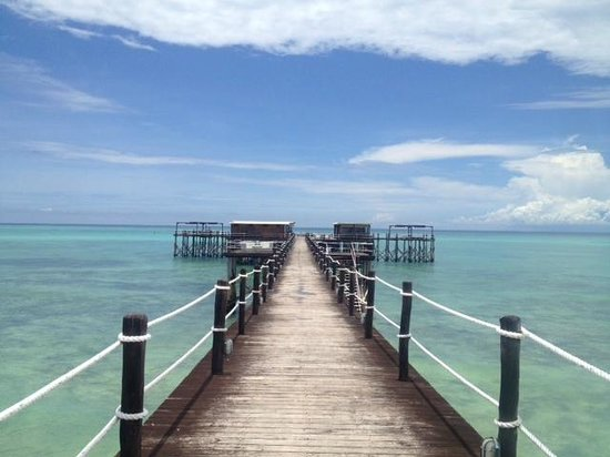 Essque Zalu Zanzibar:                   la jetée et son restaurant / bar