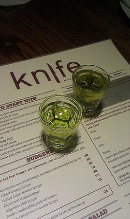 toffee apple shooter yummy picture of knife restaurant