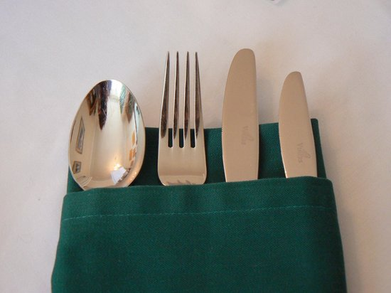 Alamah Guest House: Your breakfast cutlery!