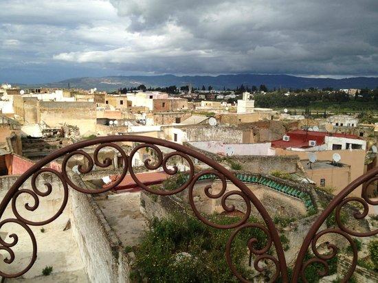 Riad Hiba Meknes:                   vista dalla terrazza