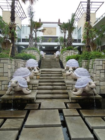 Grand Inna Kuta:                   Giant light up turtles at the hotel entry