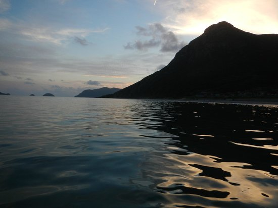 Six Senses Con Dao:                   Sunset in the ocean