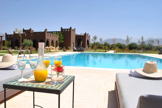 Kasbah Igoudar : the pool view