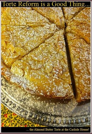 Carlisle House Bed & Breakfast: Carlisle House Almond Butter Torte