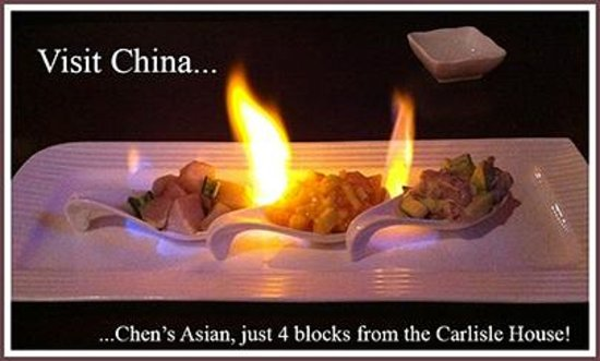 Carlisle House Bed & Breakfast: Chen's Asian 4 blocks from the Carlisle House