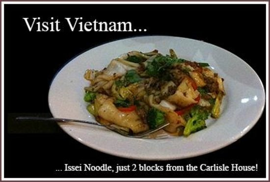 Carlisle House Bed & Breakfast: Issei Noodle 3 blocks from the Carlisle House