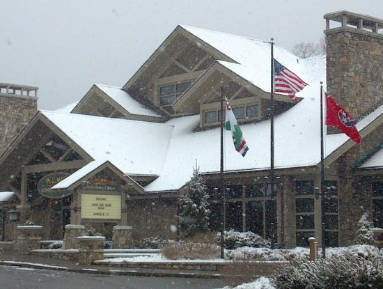 Holiday Inn Club Vacations Gatlinburg-Smoky Mountain:                   Just down the street - the Convention Center with a Dusting of Snow